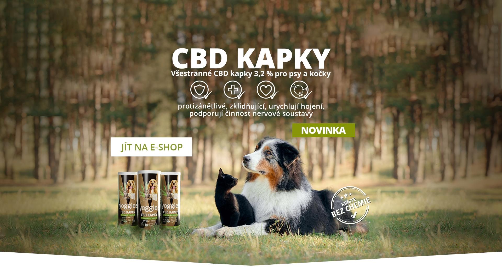 CBD kapky pro psy a kočky 3,2 % Yoggies