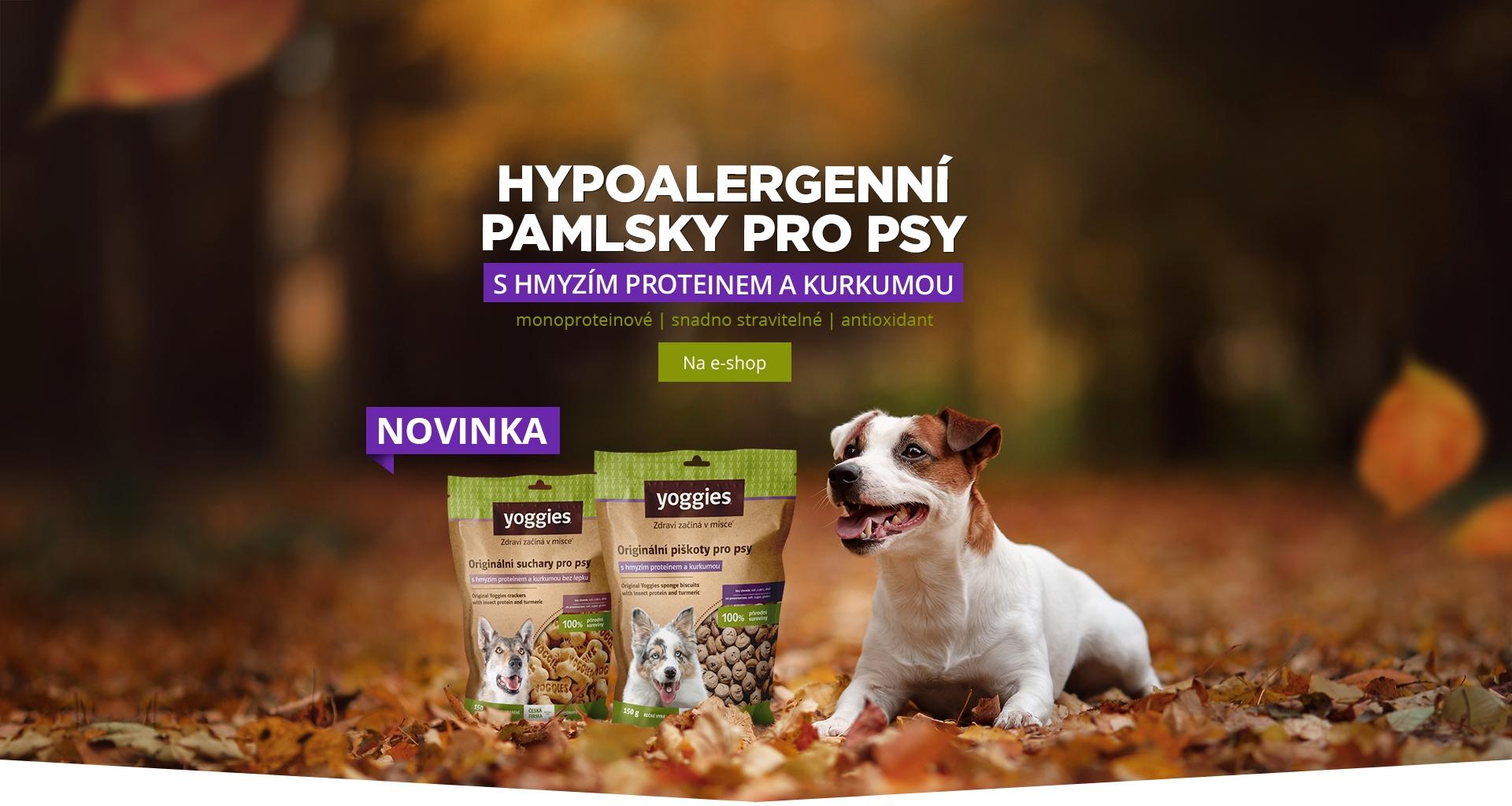 Hypoalergenní pamlsky Yoggies pro psy s hmyzím proteinem a kurkumou